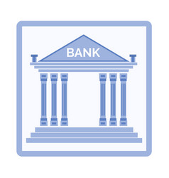 Bank institution build in classic style banking vector
