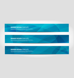 banners with abstract geometric blue vector image