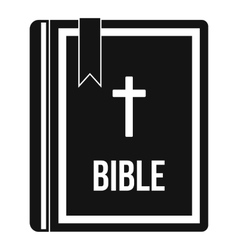 Bible icon in simple style vector
