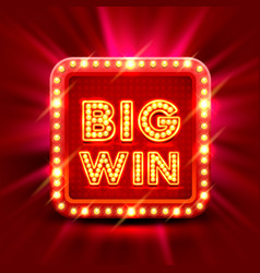 big win slots banner casino vector image