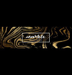 black and gold marble texture abstract marble vector image