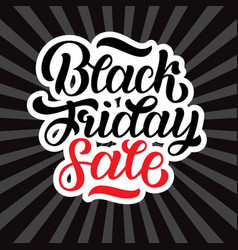 Black friday sale hand-made vector