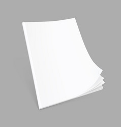 blank flying cover of magazine journal book or vector image