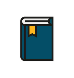 book icon on white background vector image
