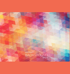 Bright color triangle background vector