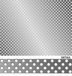 Brushed metal surface with holes vector