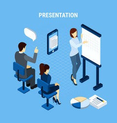 business idea presentation background vector image