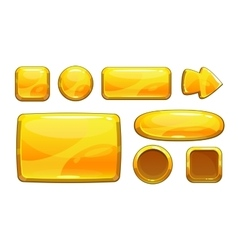 Cartoon golden game assets vector