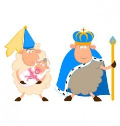 Cartoon sheep characters vector