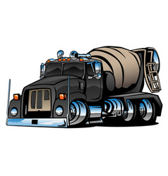 cement mixer truck cartoon vector image