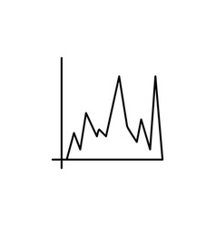 chart bar icon vector image