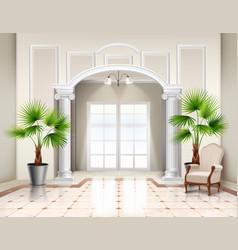 Classic realistic interior design vector