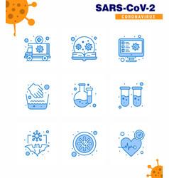 covid19-19 protection coronavirus pendamic 9 blue vector image