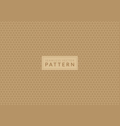 cream color hexagon honeycomb seamless pattern vector image