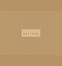 cream color hexagon honeycomb seamless pattern vector image