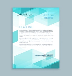 creative modern letterhead template with abstract vector image