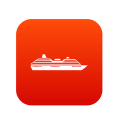cruise ship icon digital red vector image