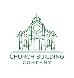 design church building outline vector image