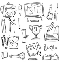 Design school education doodles vector