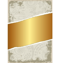 Dirty and gold background vector