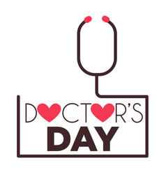 doctors day medical worker professional holiday vector image
