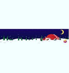 Drunk santa claus banner vector