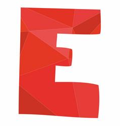 E red alphabet letter isolated on white background vector