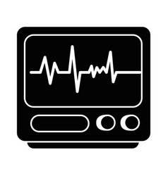 electrocardiograph machine isolated icon vector image