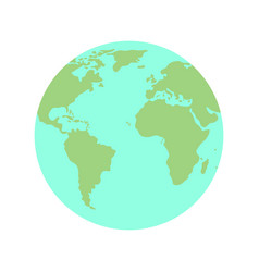 flat planet earth globe icon vector image