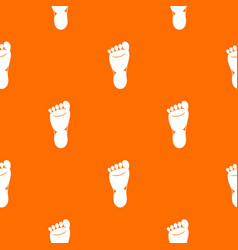 foot left leg pattern seamless vector image