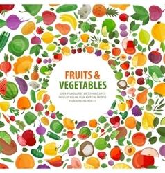 fruits vegetables logo design template vector image