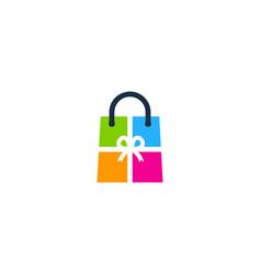 Gift shopping logo icon design vector