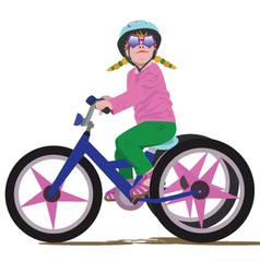 girl on a bike vector image