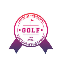 golf tournament emblem badge vector image
