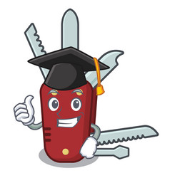 Graduation penknife in a character shape vector