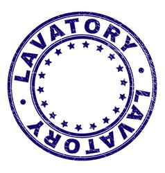 Grunge textured lavatory round stamp seal vector