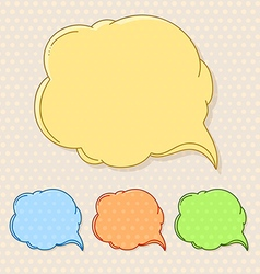 Hand-drawn comic style talk cloud Copy-space color vector