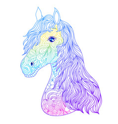 Hand drawn head of horse vector