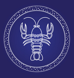 horoscope astrology zodiac card cancer vector image