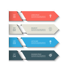 infographic template with 4 arrows vector image