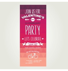 Invitation Valentines Day vector
