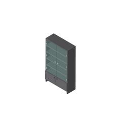 isolated drawer isometric sideboard vector image