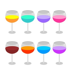 Isolated wine glasses set vector image