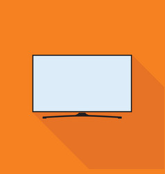 led smart tv icon vector image
