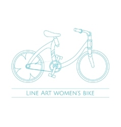 Line Art Womens Bike One vector image