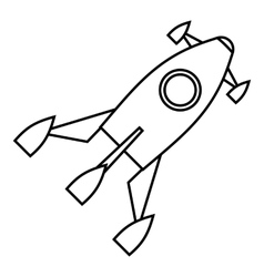 Little rocket icon outline style vector image