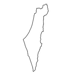 map of israel vector image vector image