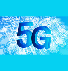 next generation of mobile internet 5g binary code vector image