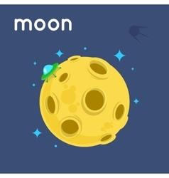 Night Moon and stars vector