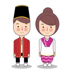 north maluku province wedding couple cute vector image
